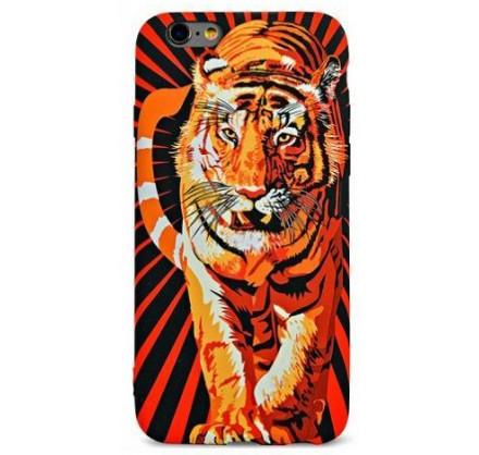 Чехол Luxo тигр для iPhone 6/6S с принтом силиконовый D...