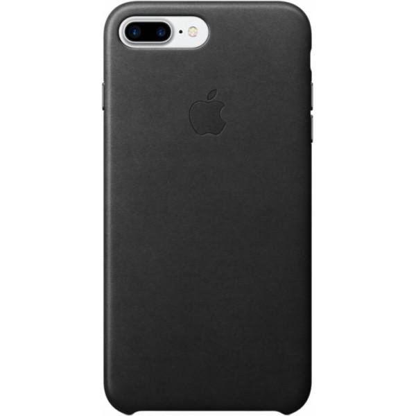 Накладка iPhone 7 Plus/8 Plus (ориг.) натуральная кожа черная