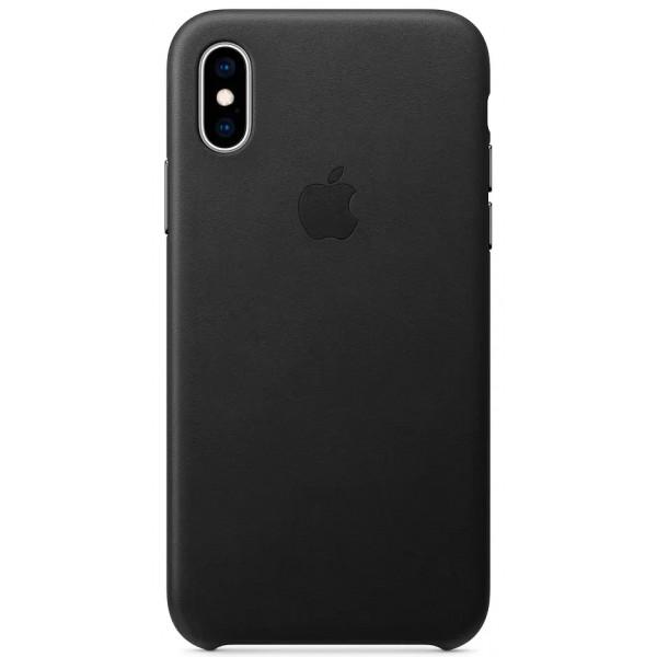 Чехол Leather Case для iPhone X/Xs черный