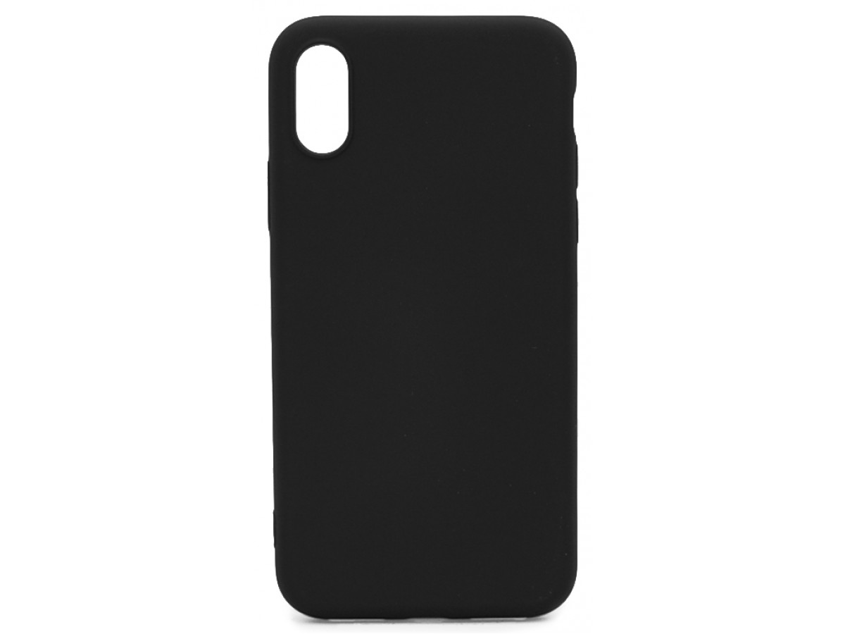 Чехол Soft-Touch для iPhone X/XS черный в Тюмени