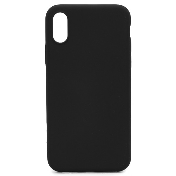 Чехол Soft-Touch для iPhone X/XS черный