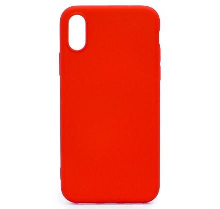 Чехол Soft-Touch для iPhone X/XS красный