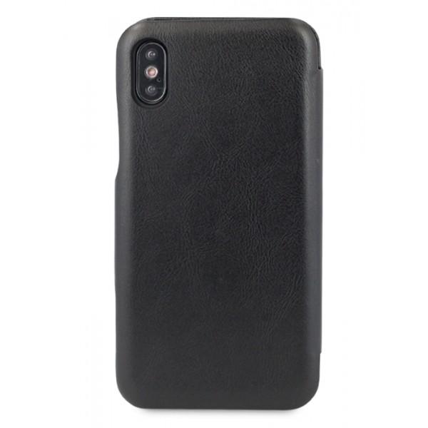 Чехол-книжка Puloka для iPhone Xs Max на магните черная