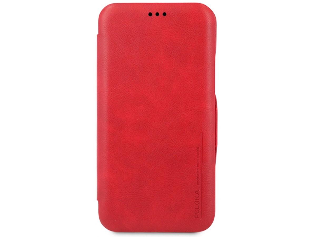 Чехол-книжка Puloka для iPhone Xs Max на магните красная в Тюмени