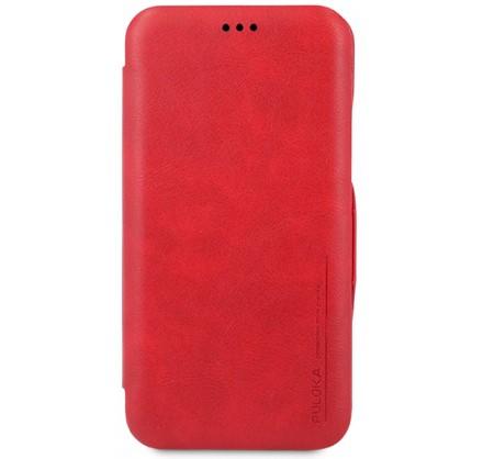 Чехол-книжка Puloka для iPhone Xs Max на магните красна...