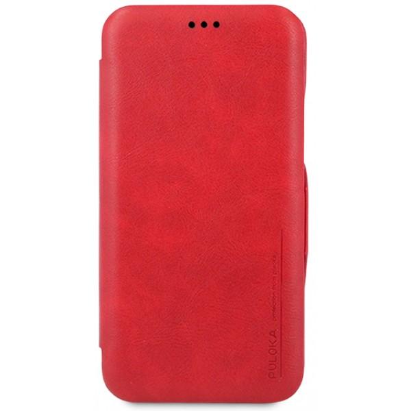 Чехол-книжка Puloka для iPhone Xs Max на магните красная