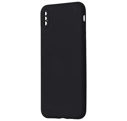 Чехол Soft-Touch для iPhone Xs Max черный