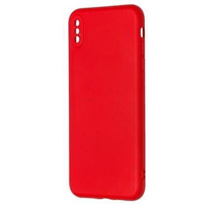 Чехол Soft-Touch для iPhone Xs Max красный