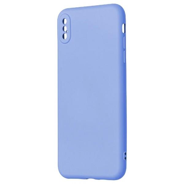 Чехол Soft-Touch для iPhone Xs Max светло-голубой