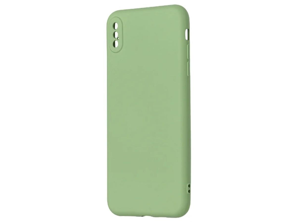 Чехол Soft-Touch для iPhone Xs Max зеленый в Тюмени