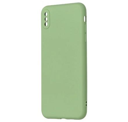 Чехол Soft-Touch для iPhone Xs Max зеленый