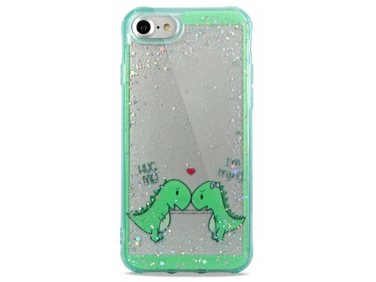 Накладка iPhone 7/8 силикон Love Dino в Тюмени