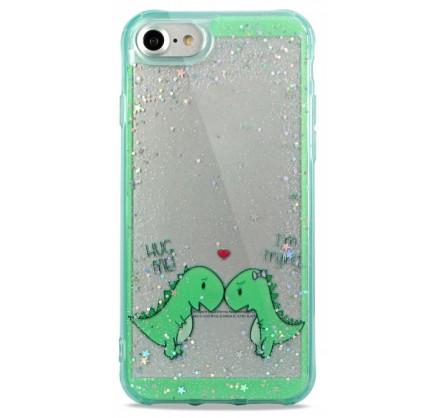 Накладка iPhone 7/8 силикон Love Dino