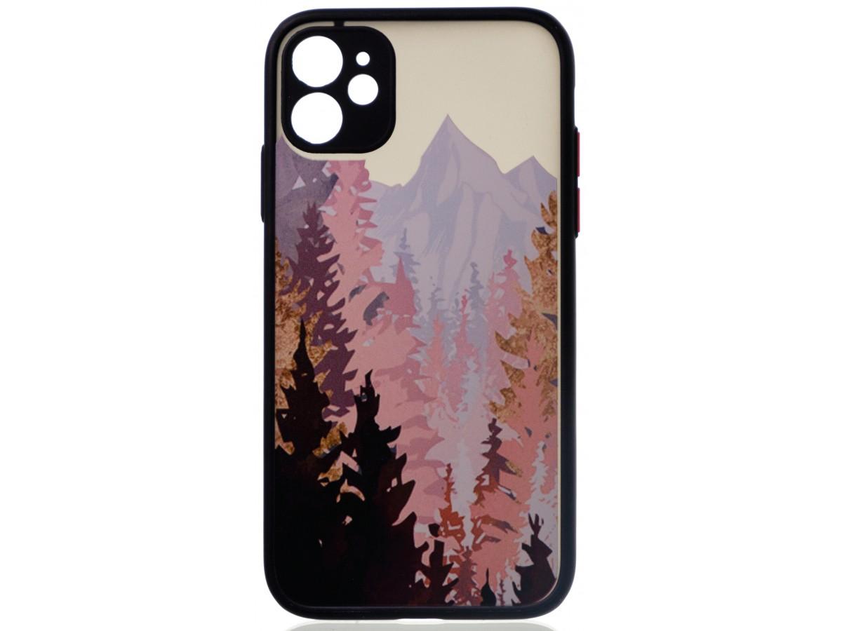 Чехол Safe Camera Forest для iPhone 11 с принтом черный в Тюмени
