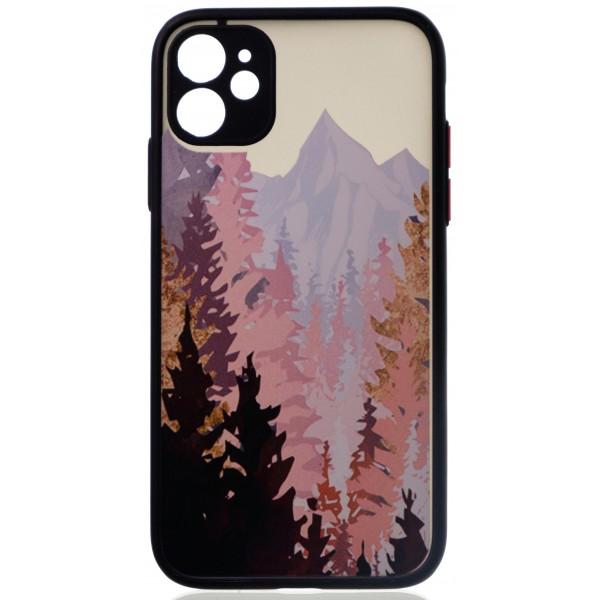 Чехол Safe Camera Forest для iPhone 11 с принтом черный
