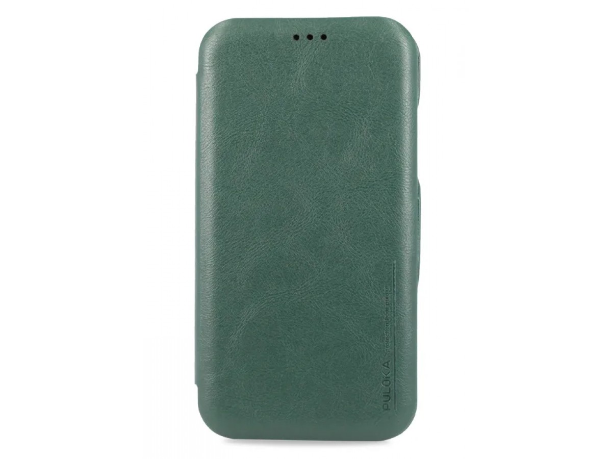 Чехол-книжка Puloka для iPhone XR на магните зеленая в Тюмени