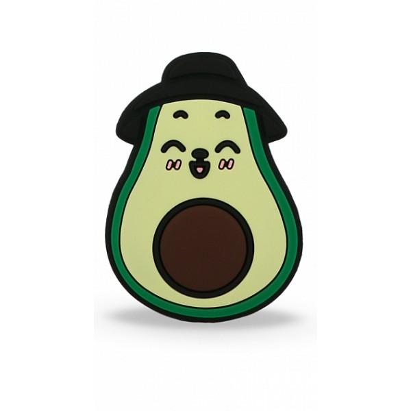 Чехол с попсокетом Avocado для iPhone XR c принтом силиконовый