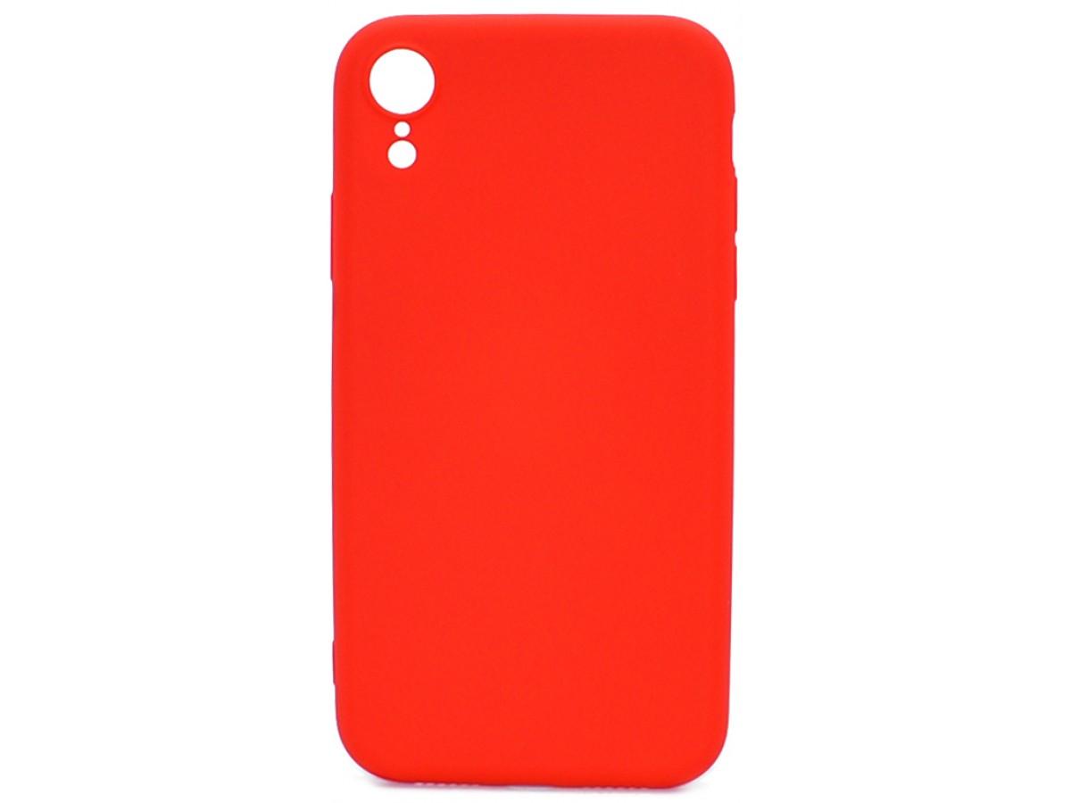 Чехол Soft-Touch для iPhone XR красный в Тюмени