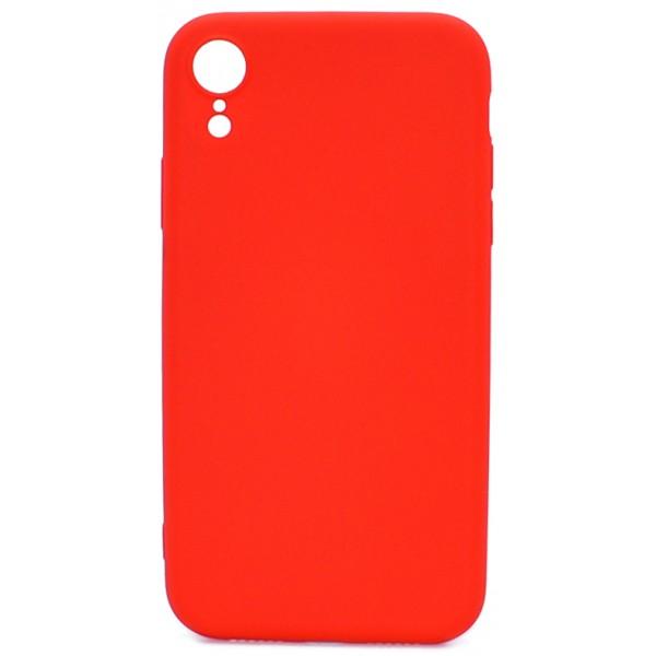 Чехол Soft-Touch для iPhone XR красный