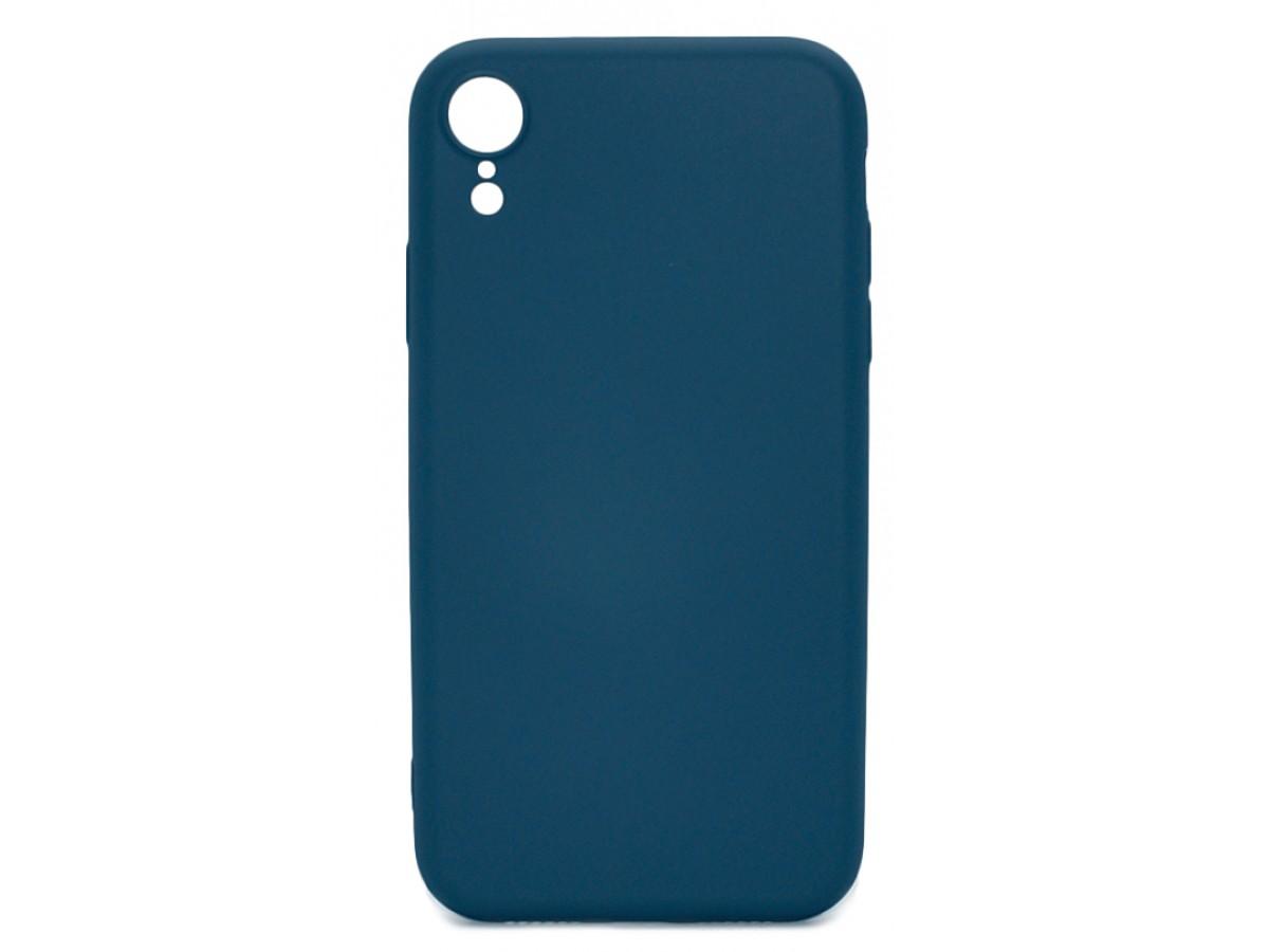 Чехол Soft-Touch для iPhone XR темно-синий в Тюмени