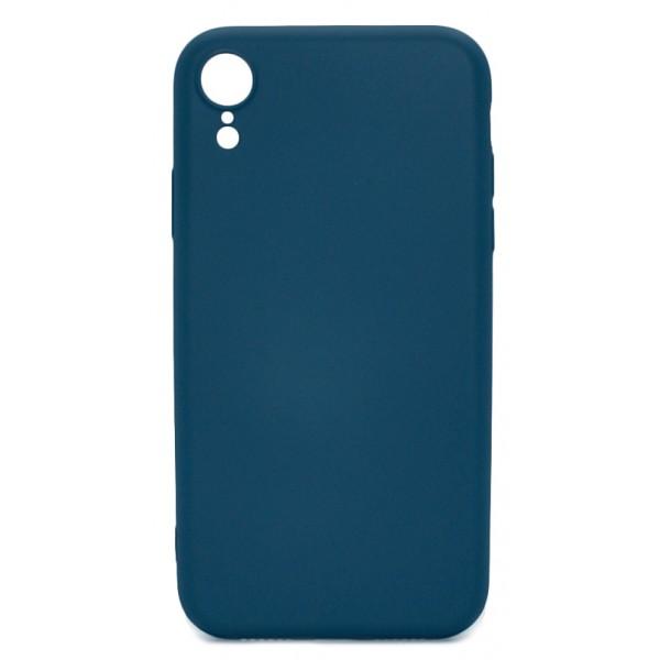 Чехол Soft-Touch для iPhone XR темно-синий