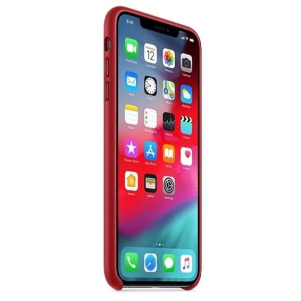 Чехол Leather Case для iPhone XR красный