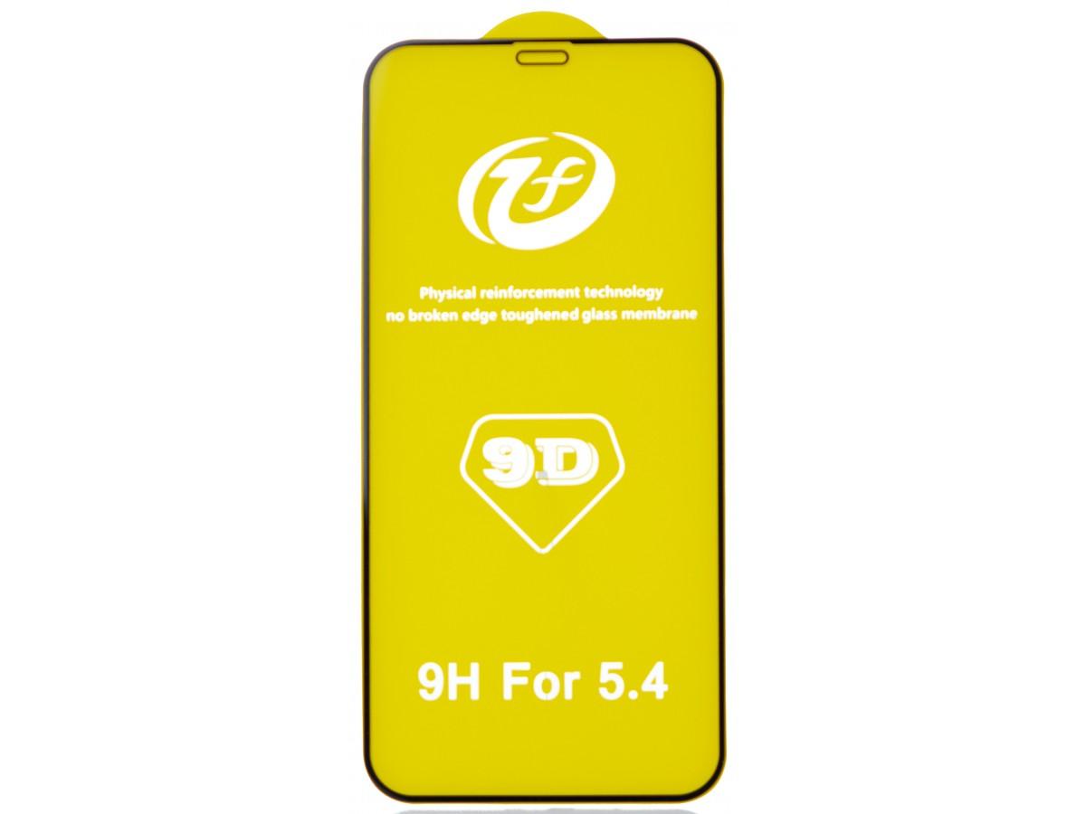 Защитное стекло 3D для iPhone 12 Mini черное Full Glue в Тюмени