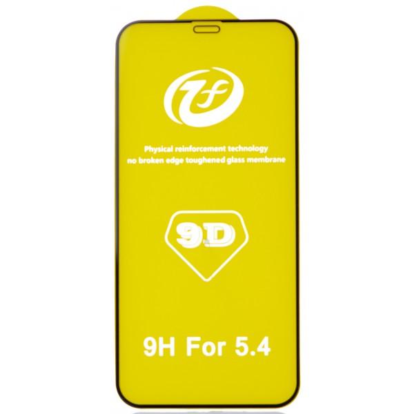 Защитное стекло 3D для iPhone 12 Mini черное Full Glue