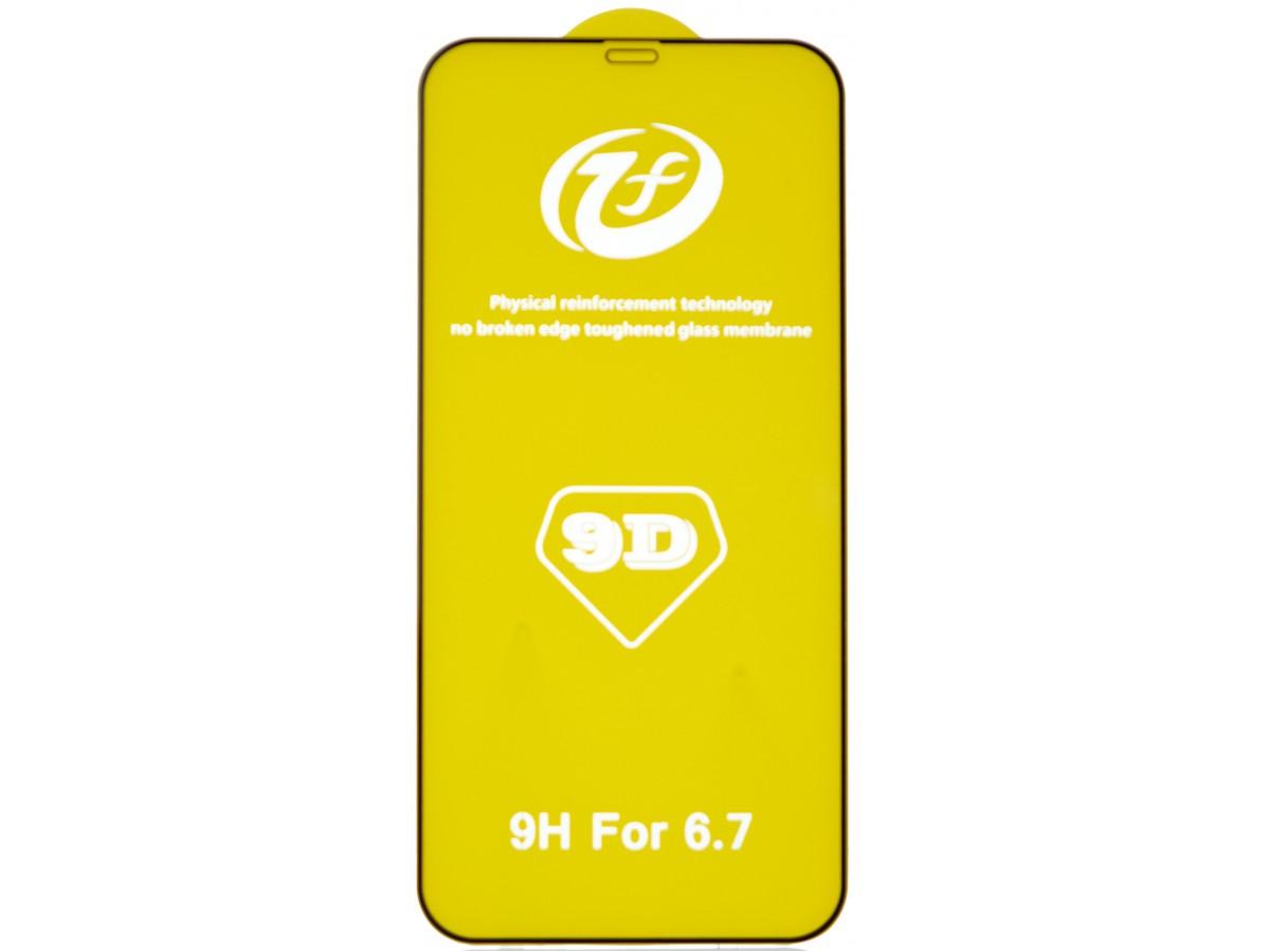 Защитное стекло 3D для iPhone 12 Pro Max черное Full Glue в Тюмени