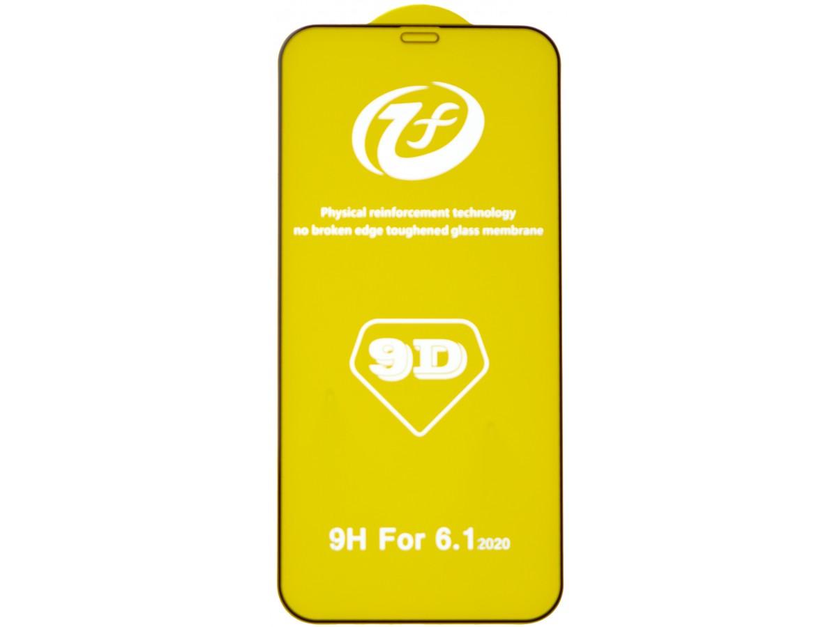 Защитное стекло 3D для iPhone 12/12 Pro черное Full Glue в Тюмени