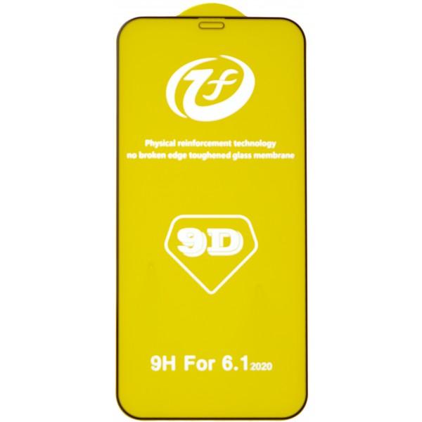 Защитное стекло 3D для iPhone 12/12 Pro черное Full Glue
