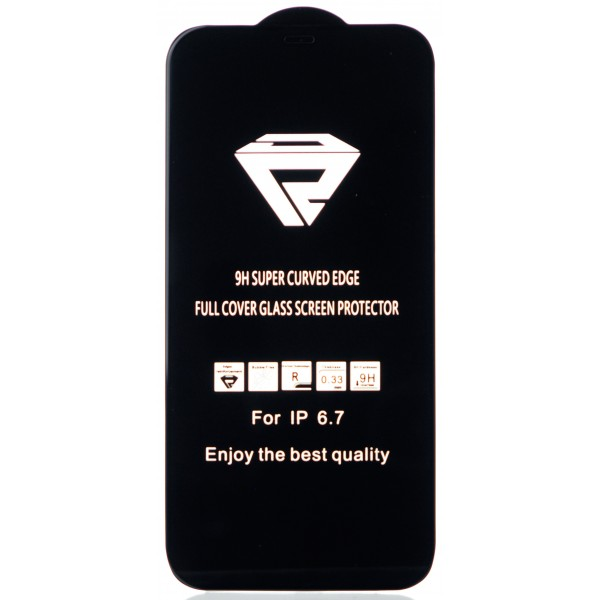 "Защитное стекло 3D для iPhone 12 Pro Max 6.7"" черное Full Glue"