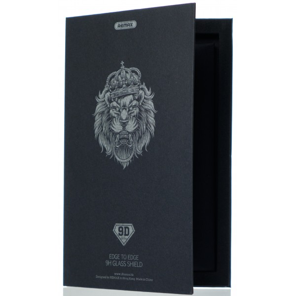 Защитное стекло Remax 3D для iPhone 12/12 Pro черное Full Glue