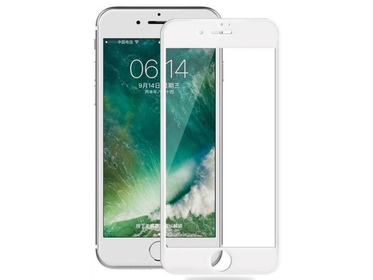 Защитное стекло 3D для iPhone 6 Plus/6S Plus белое Full Glue в Тюмени