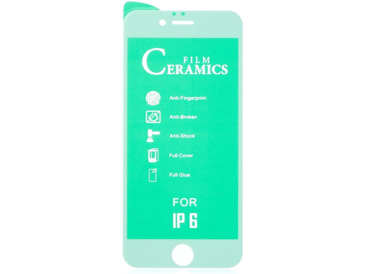 Стекло защитное iPhone 6/6s белое (Ceramics) в Тюмени