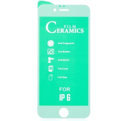 Стекло защитное iPhone 6/6s белое (Ceramics)