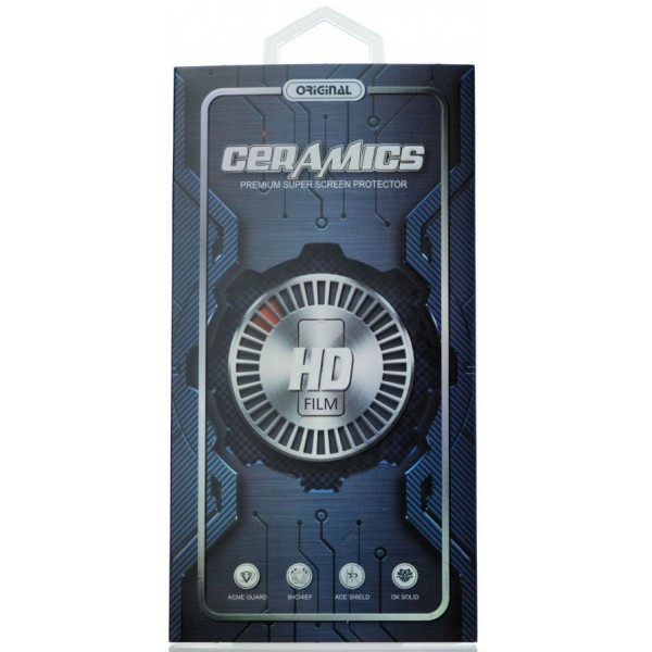 Стекло защитное iPhone 6/6s черное (Ceramics)