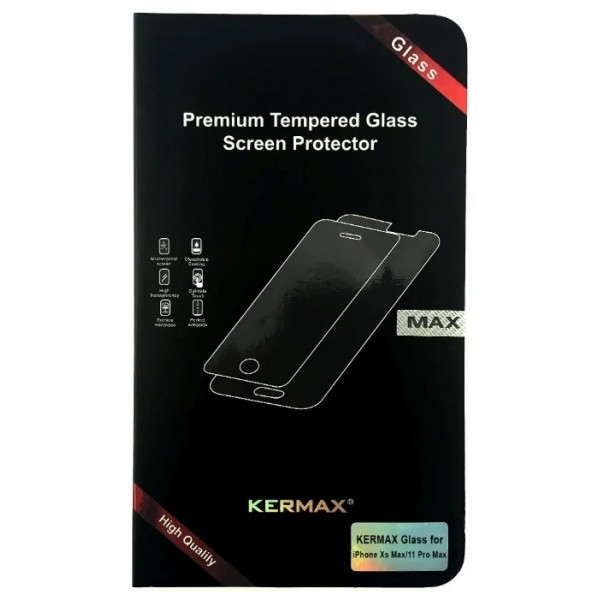 Прозрачное защитное стекло Kermax для iPhone XS Max/11 Pro Max