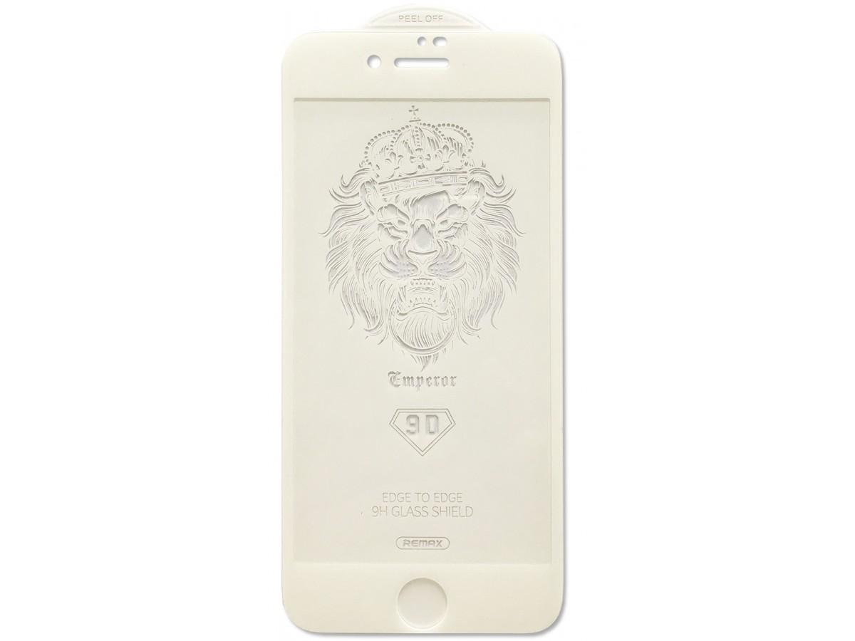 Защитное стекло Remax 3D для iPhone 7/8 белое Full Glue в Тюмени