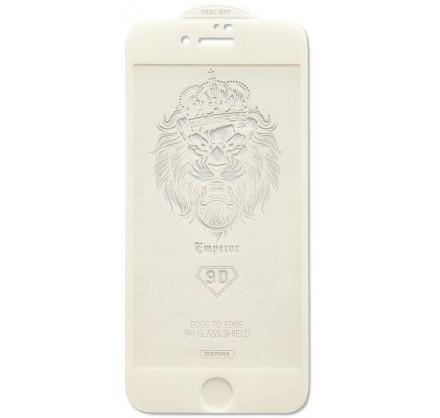 Защитное стекло Remax 3D для iPhone 7/8 белое Full Glue