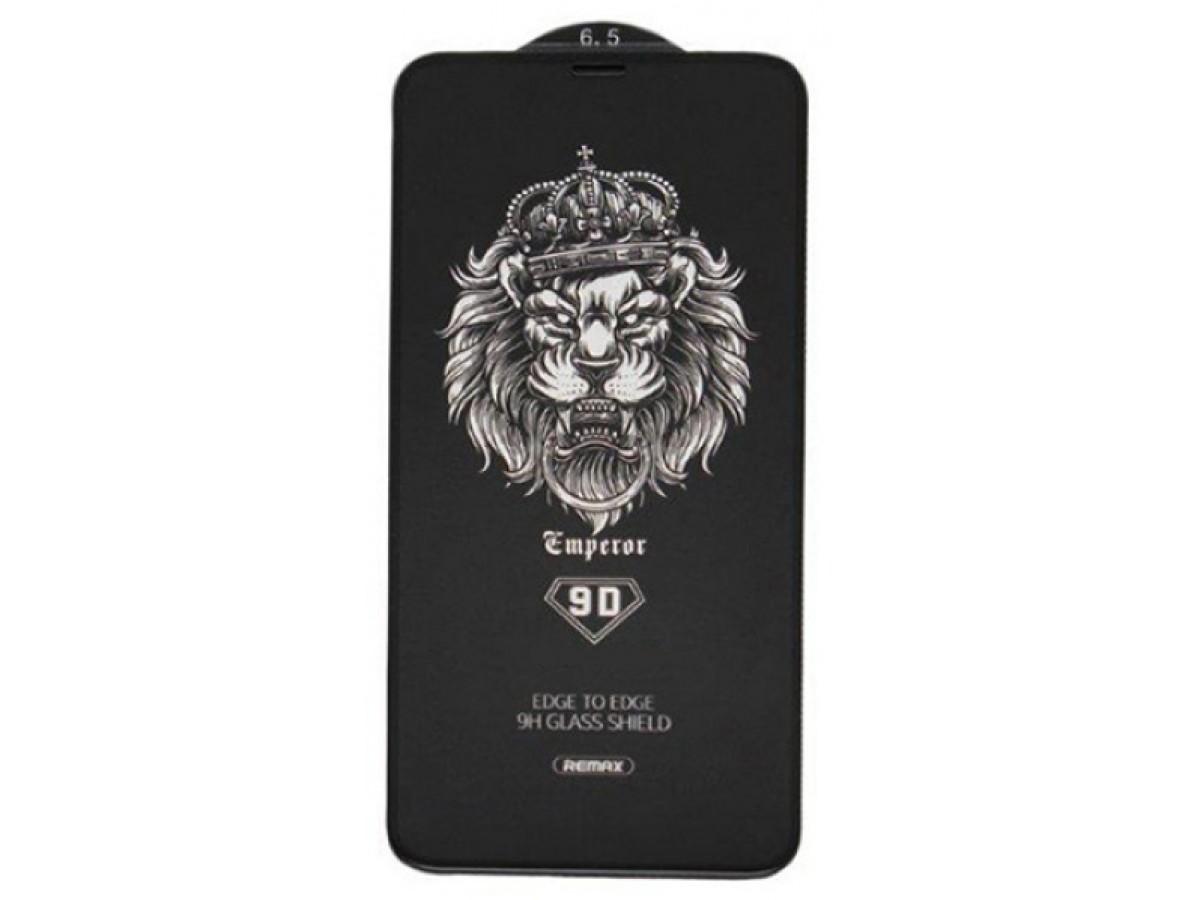 Защитное стекло Remax 3D для iPhone XS MAX/11 Pro Max черное Full Glue в Тюмени