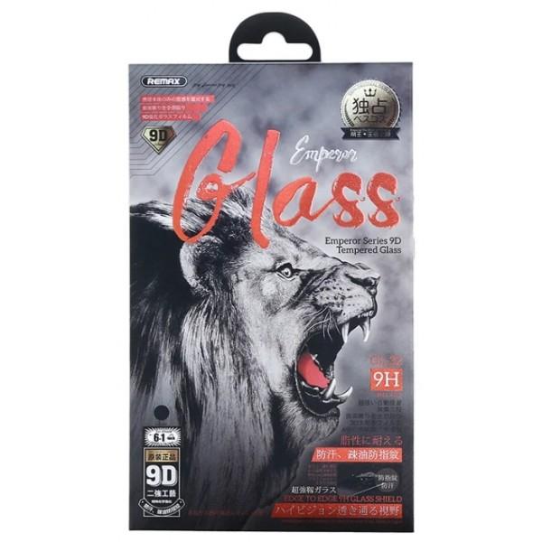 Защитное стекло Remax 3D для iPhone XR/11 черное Full Glue
