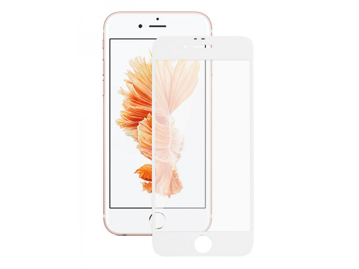 Защитное стекло 3D для iPhone 6/6s белое Full Glue в Тюмени