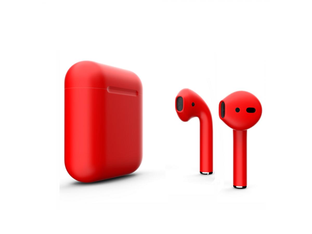 Apple AirPods 2-го поколения (красные) в Тюмени