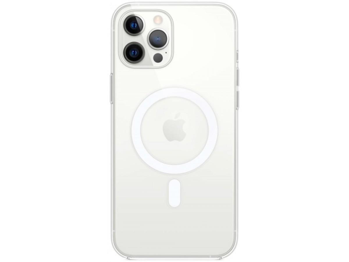 Чехол прозрачный MagSafe для iPhone 12 Pro Max силиконовый в Тюмени