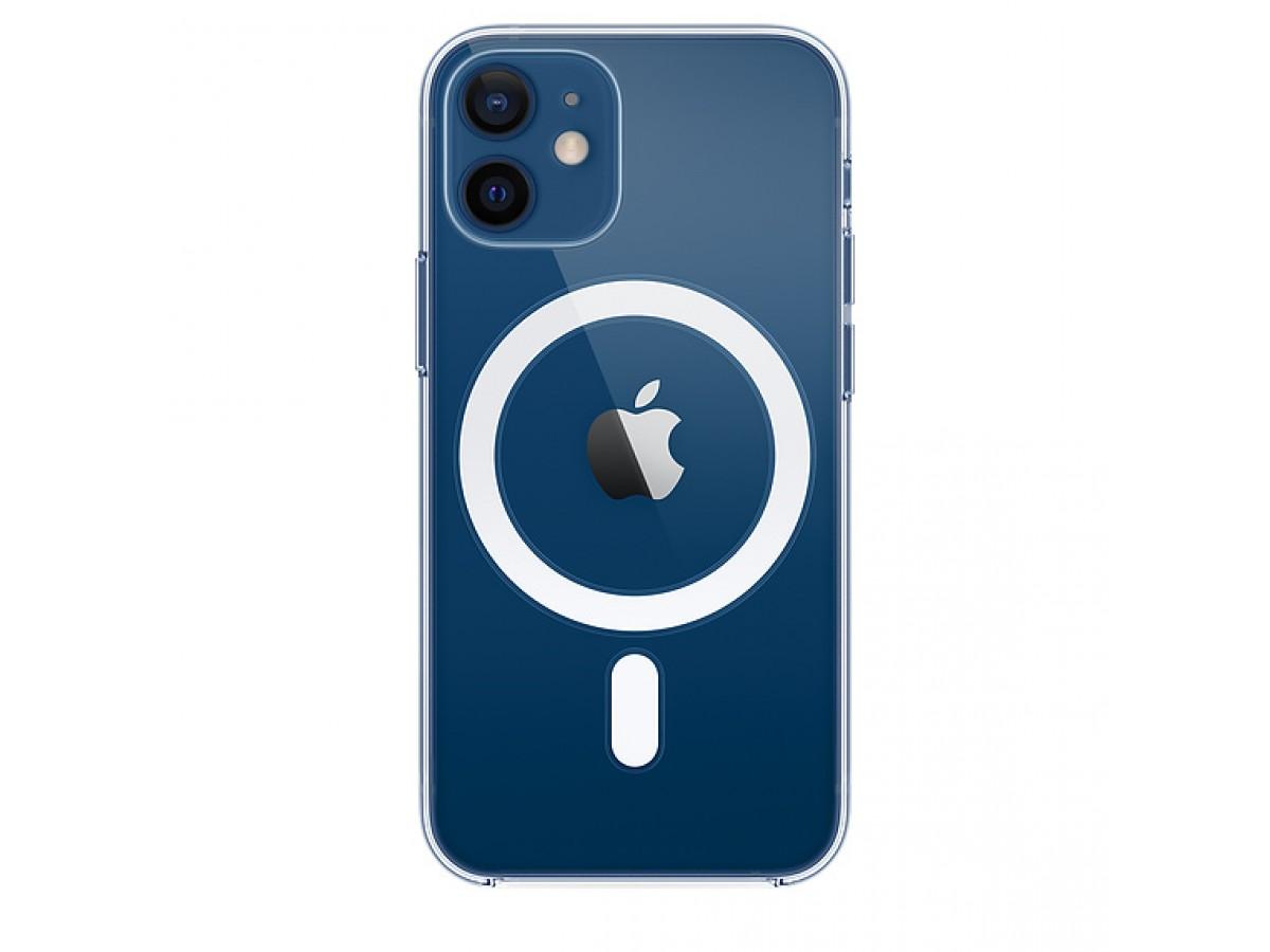 Чехол прозрачный MagSafe для iPhone 12 Mini силиконовый в Тюмени