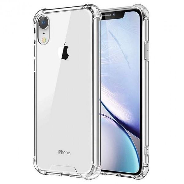 Чехол противоударный с бортиками для iPhone XR силиконовый прозрачный