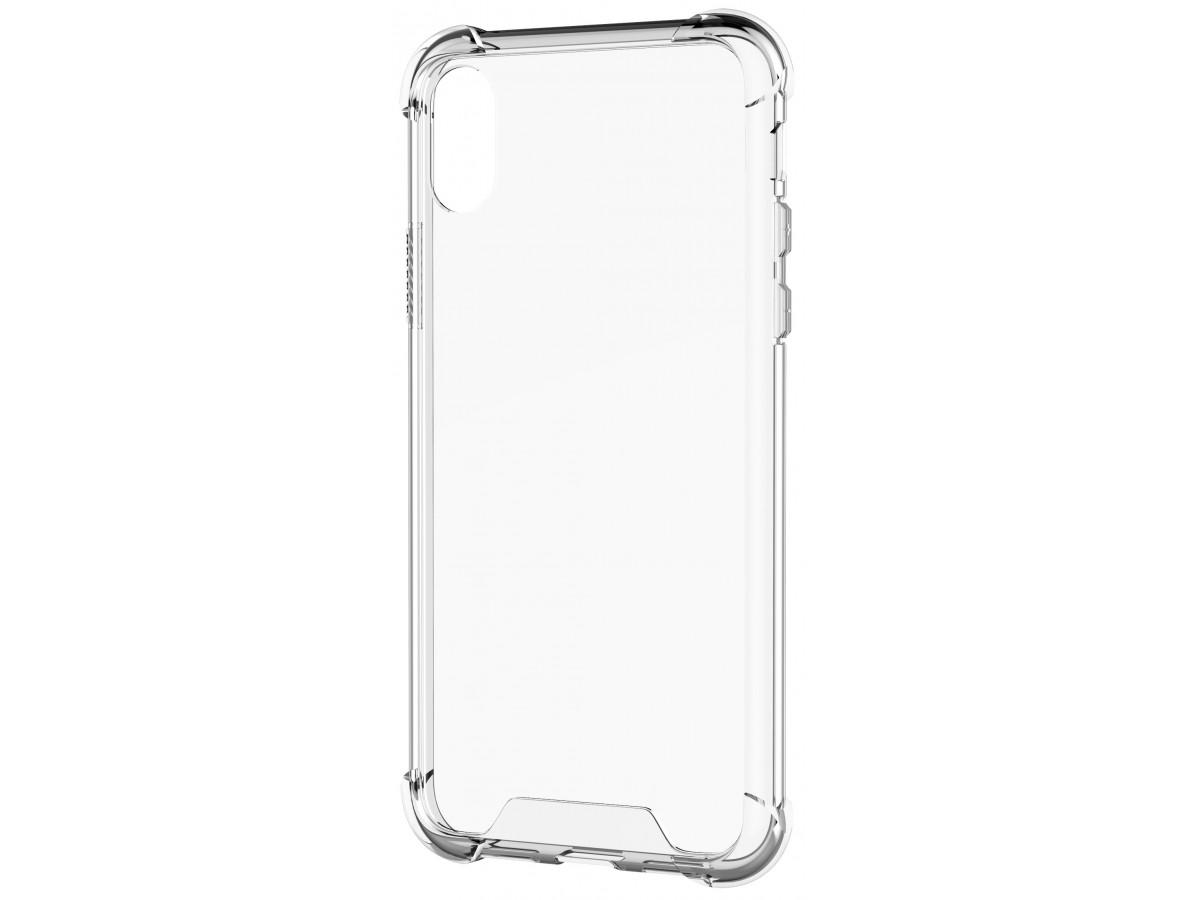Чехол противоударный с бортиками для iPhone X/Xs силиконовый прозрачный в Тюмени