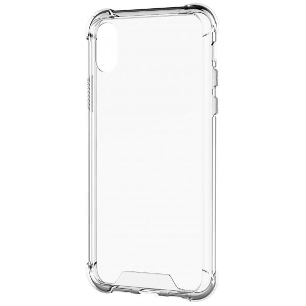 Чехол противоударный с бортиками для iPhone X/Xs силиконовый прозрачный