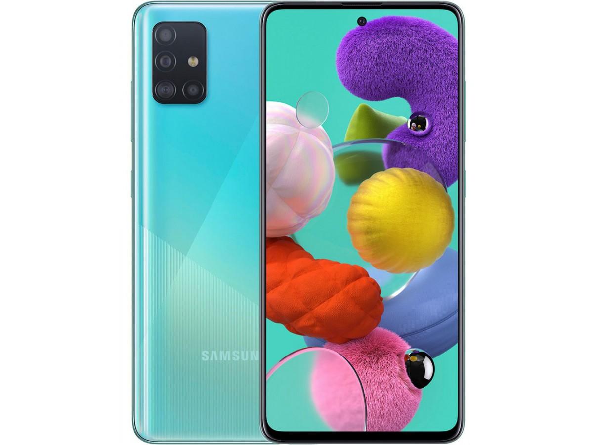 Samsung Galaxy A51 64GB голубой в Тюмени